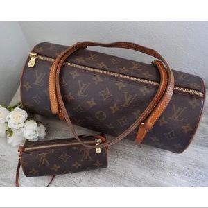 Louis Vuitton Papillon 30 Handbag w/ Coin Pouch